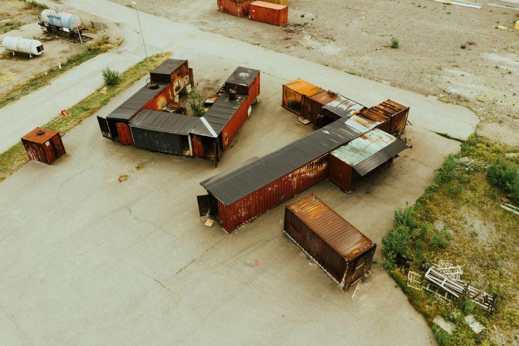 Övertändning container